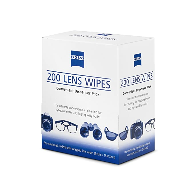 Amazon.com: Zeiss Pre-Moistened Lens Cleaning Wipes 6 x 5-Inches: Clothing