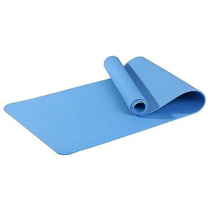 Asvert Esterilla de Fitness Antideslizante de TPE 100% Profesional Colchoneta de Yoga Gruesa para Deporte Pilate y Gimnasia Ejercicio
