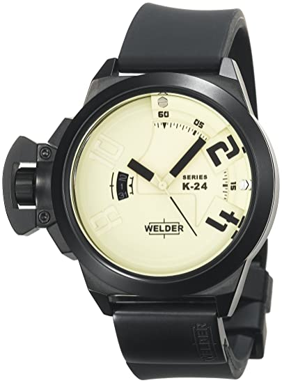 Welder K24 3101 - Reloj unisex de cuarzo, correa de silicona color negro