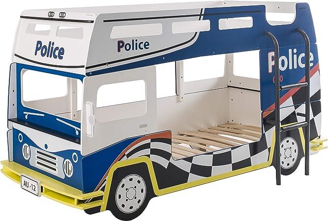 Miroytengo Cama litera Coche Policía Infantil habitación ...