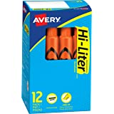 HI-LITER Desk Style 12 per pack Fluorescent Orange