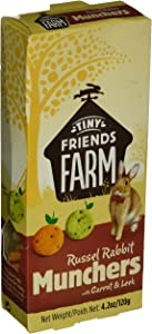 TINY FRIENDS FARM Supreme Russel Premium Munchers Carrot Healthy Baked Bites for Rabbits 4.2z