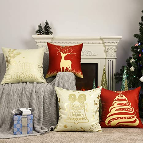 18/'/' Merry Christmas Cushion Cover Throw Pillow Case Xmas Home Sofa Supplies