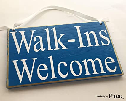Amazon.com: walk-ins Bienvenido 8 x 6 (elegir color) Oficina ...