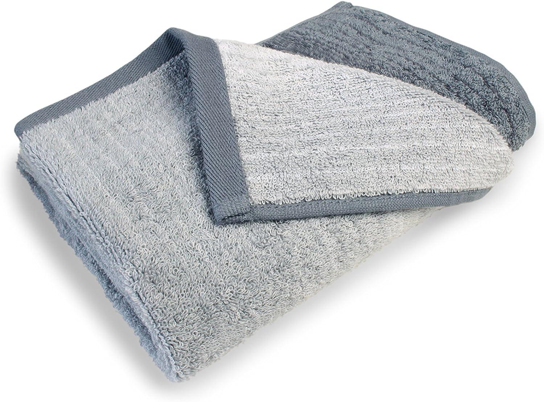 blau /'Bio di asciugamano Serie colori/ 100/% cotone asciugamano di 50 x 100 cm /disponibile in 6/combinazioni di colori brillanti e 3/diverse misure/ /lavorazione di alta qualit/à e con pratico misure