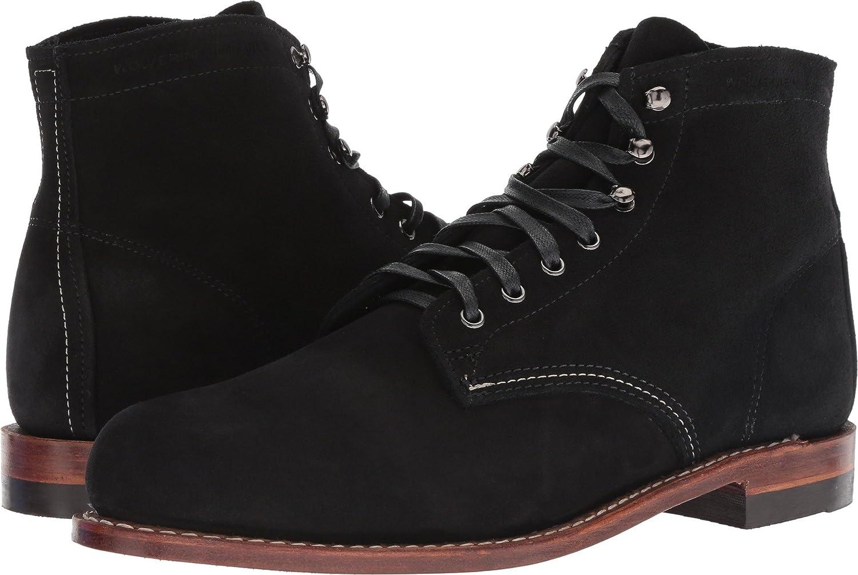 "WOLVERINE Men Boots Shoes Loader Welt 6/"" Dark Brown Leather Lace Up"