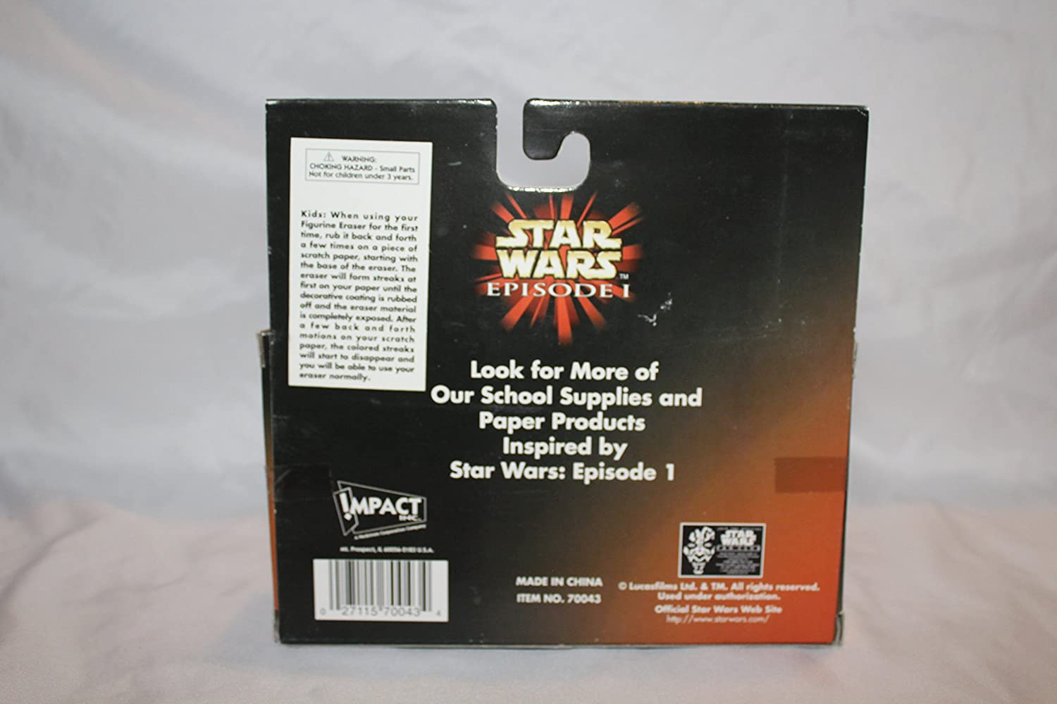 Amazon.com: Star Wars Episode 1 Figurine Erasers 3 Pack with Watto, Darth Maul and Sebulba the Pod Racer: Toys & Games