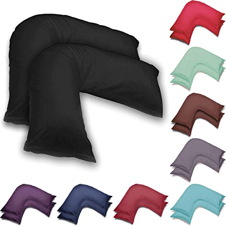 Wholesale 2 Pack V Shaped Pillow Cases