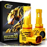 Cougar Motor Wireless 9005 HB3 LED Headlight Bulb, 10000Lm 6500K Slim All-in-One Conversion Kit - Cool White