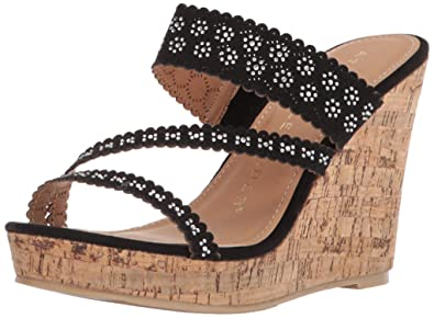 2c57007248d4 Athena Alexander Women s AERIN Wedge Sandal Black 10 ...