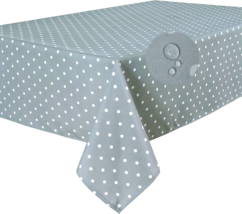 Rectangular 140 x 200cm Lunares Gris Claro Home Direct Mantel Antimanchas Resistente a L/íquidos 100/% poli/éster