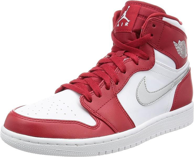 Nike Mens Air Jordan 1 Retro High Gym RedMetallic