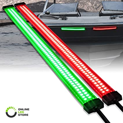 Stainless Housing Red and Green Bright A Pair Bow Navigation LED Light  Boats