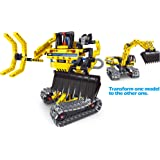 PowerTRC Mechanical Master Excavator, 2 In 1 Engineering Toy Brick For Boys
