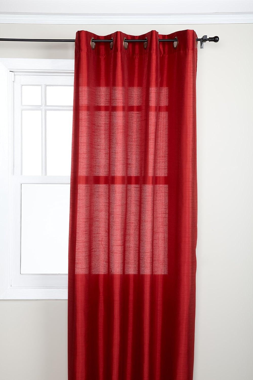 Stylemaster Tribeca Curtain Panel 56 X 108 Crimson Home Kitchen Amazon Com