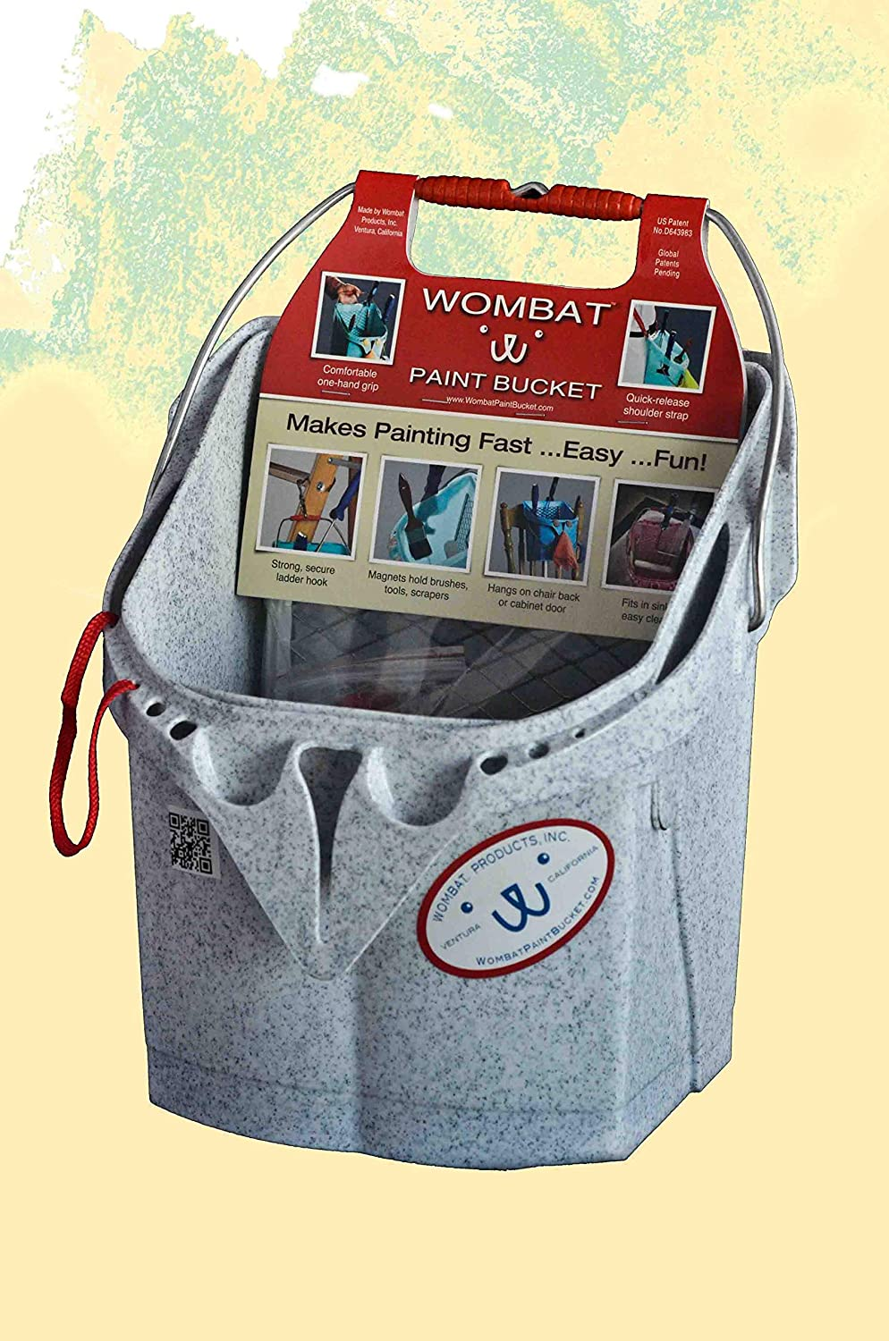Wx13 in D WOMBAT PORTAPAINT 5016 Paint Tray,10 in