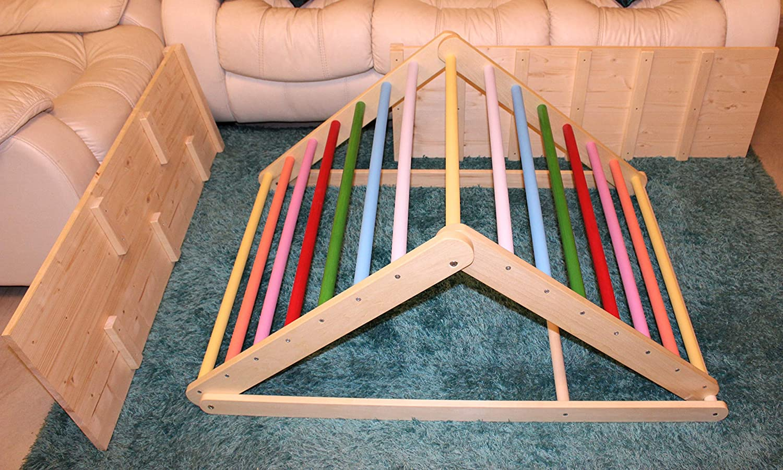 Montessori Kletterdreieck : Pikler dreieck schrittdreieck kletterleiter für kleinkinder