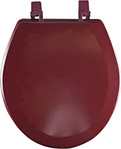 Achim Home Furnishings Burgundy TOWDSTBU04 17-Inch Fantasia Standard Toilet Seat, Wood