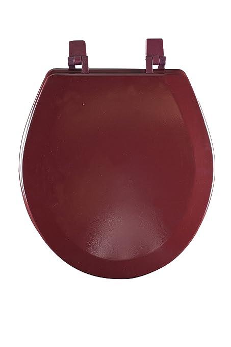 burgundy toilet seat cover. Achim Home Furnishings TOWDSTBU04 17 Inch Fantasia Standard Toilet Seat  Wood Burgundy