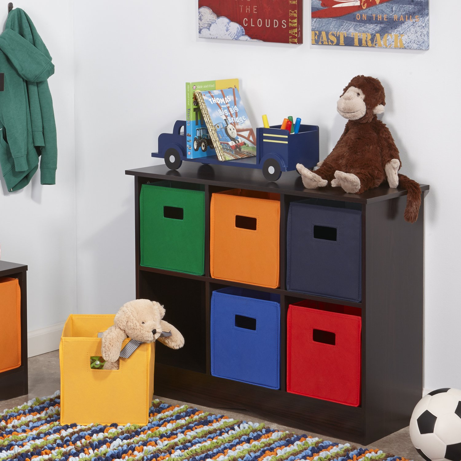 Beautiful Amazon.com: RiverRidge Kids 6 Bin Storage Cabinet, Espresso: Kitchen U0026  Dining