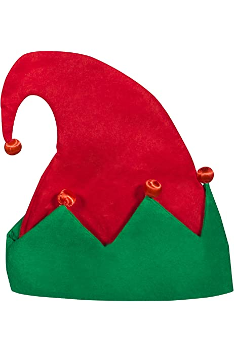 Adult Elf Hat RED /& GREEN Hat with bells Christmas celebrations Elf hats.