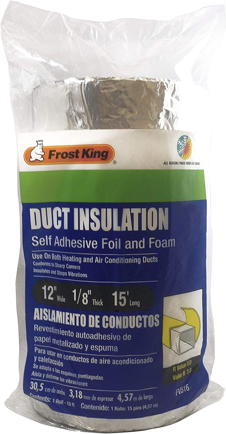"Frost King FV516 15/' X 12/"" X 1//8/"" Self Adhesive Duct Insulation"