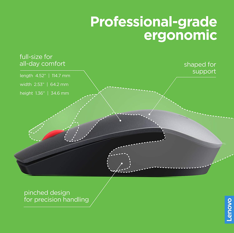 41002335f0f Amazon.com: Lenovo 700 Wireless Laser Mouse, Black, 1600 dpi, 2.4 GHz  wireless via USB, 4-way scroll wheel, Full-size ergonomic design, Accurate  laser ...