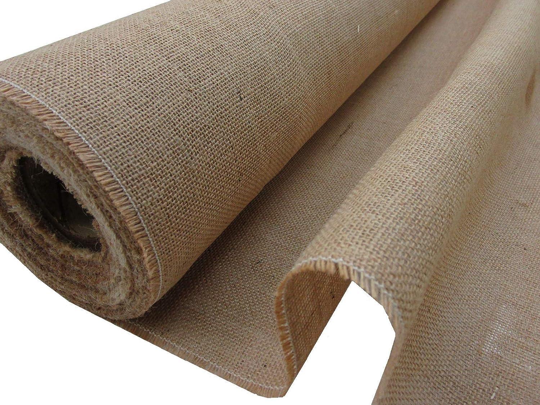 Tela in tessuto di iuta, colore naturale, larghezza: 1,5; mt 2,50x1,50m Confección Saymi