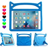 All-New iPad 2017/2018 9.7 inch Case/iPad Air Case, Riaour Light Weight Shock Proof Handle Stand Kids Case for iPad 9.7 2017/2018 iPad Air/iPad Air 2/iPad Pro 9.7(New Blue)