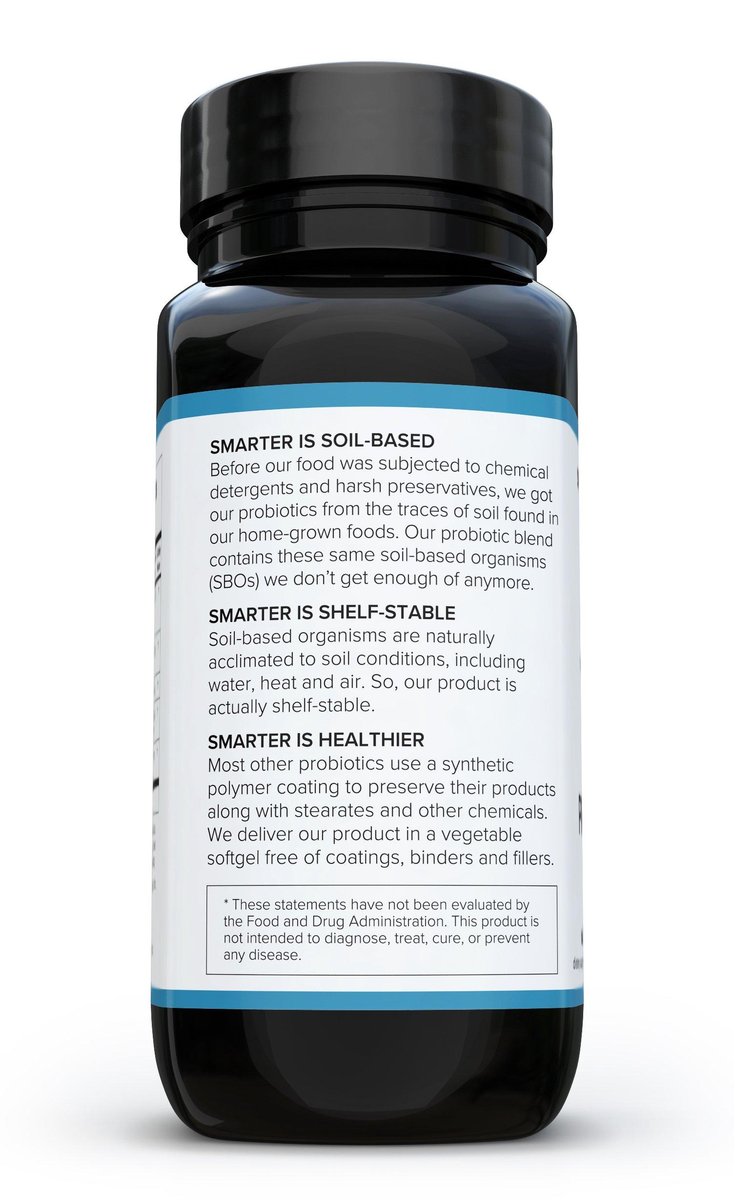 Smarter Probiotics - Superior Digestive & Immune Support from 100% Soil-Based Probiotic (3 Month Supply)