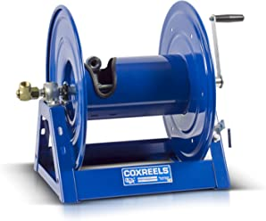 4,000 PSI Hose Not Included Holds 3//8 x 50 Length Hose Coxreels 112-3-100-CM Caddy-Mount Portable Hose Reel