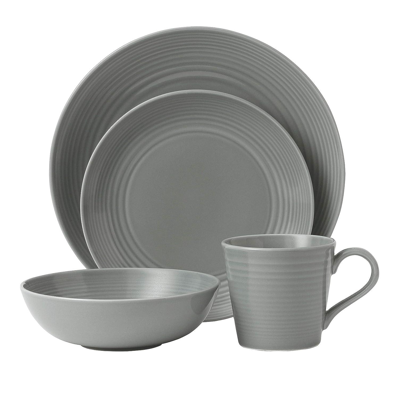 Gordon Ramsay Maze by Royal Doulton 12-Piece Set Grey Stoneware
