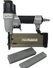 """BYNFORD 5/8"""" - 2"""" 21 Gauge PIN Nailer Pinner BRADDER with 1000 1"""" & 1000 1-9/16"""" 21 GA Slight Headed BRADS"""