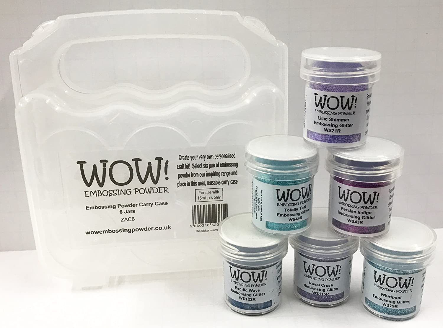 Glitter Embossing Powder 6 Piece Set Vintage Collection Wow