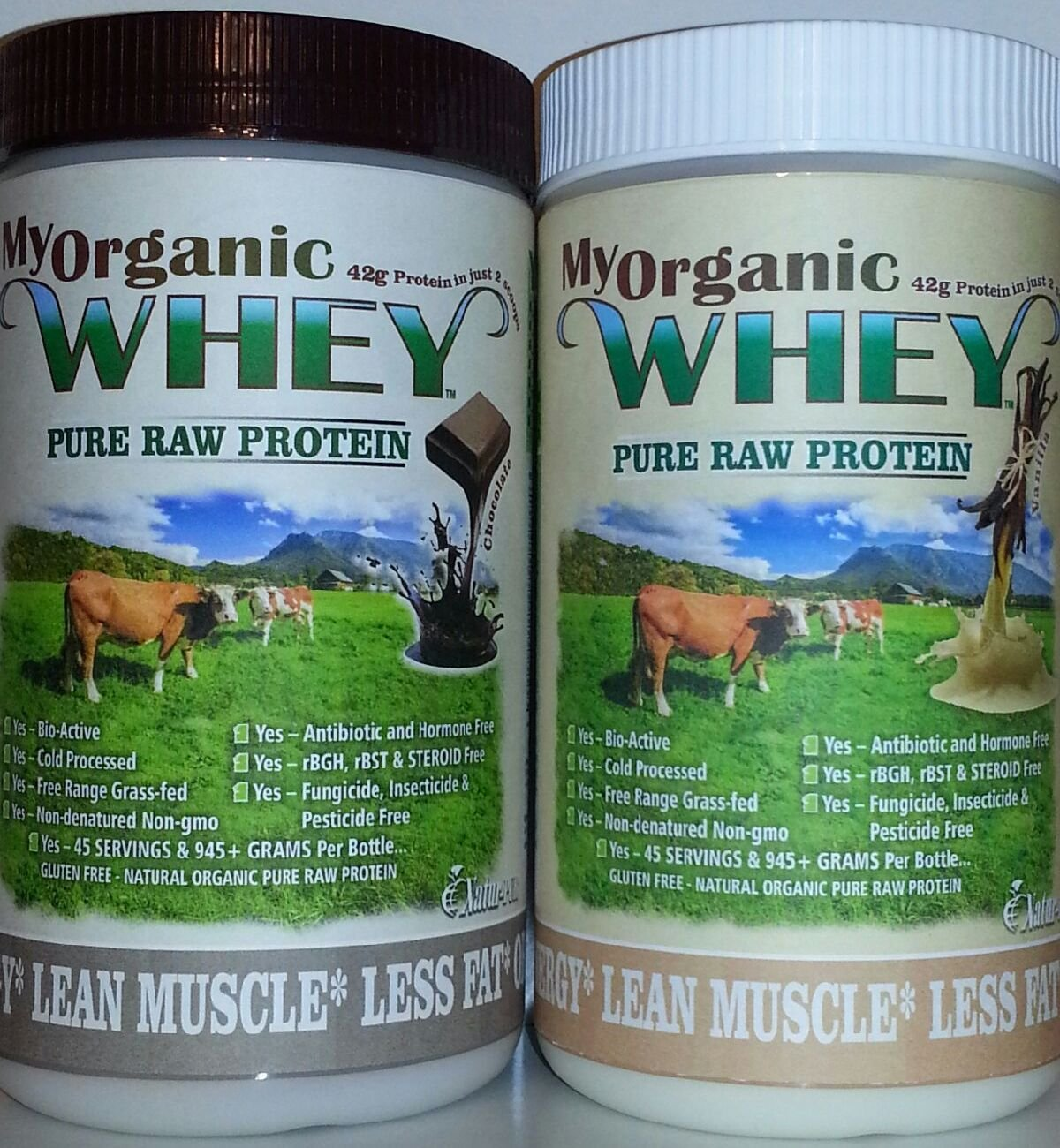 MyWHEY Grass-fed Organic Raw Whey Protein – Bio-active Cold Process Grade-A Milk Hormone-free Non-gmo Organic Whey Concentrated Powder Vanilla 1lb 945g Protein 45 Serving 1.11 by Natur-Pur