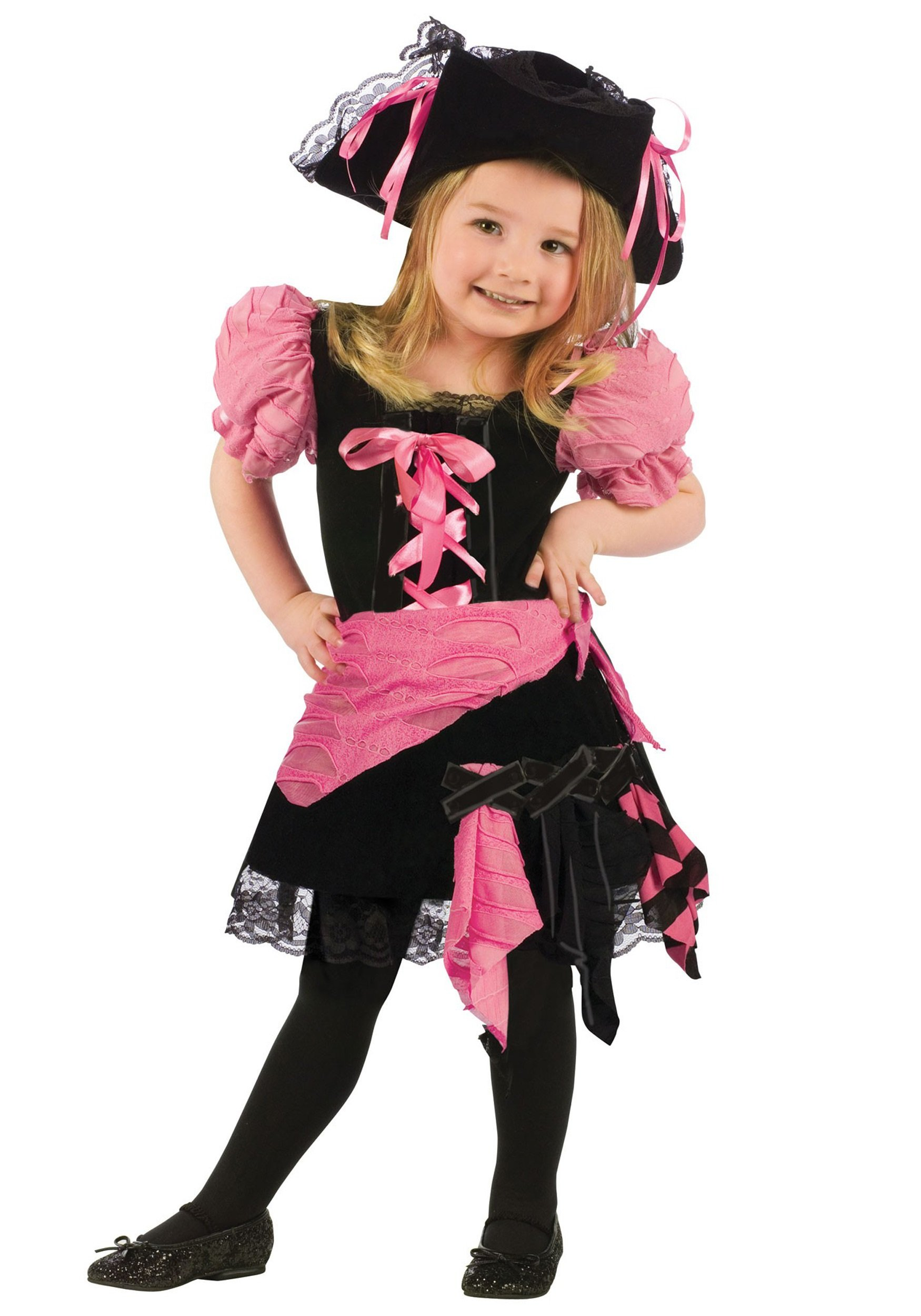 Fun World Punk Pirate Toddler Costume, Multicolor, Large 3T-4T