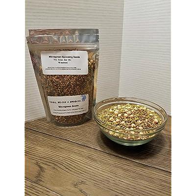 Cool Beans n Sprouts Brand, The Salad Bar Mix Seeds for Sprouting microgreens, 6 oz Broccoli, Alfalfa, Radish, Kale, Mustard, Arugula, Cress, Mung Bean, Garbanzo Bean : Garden & Outdoor