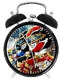 "Power Rangers Alarm Desk Clock 3.75"" Room Decor E18 Will Be a Nice Gift"