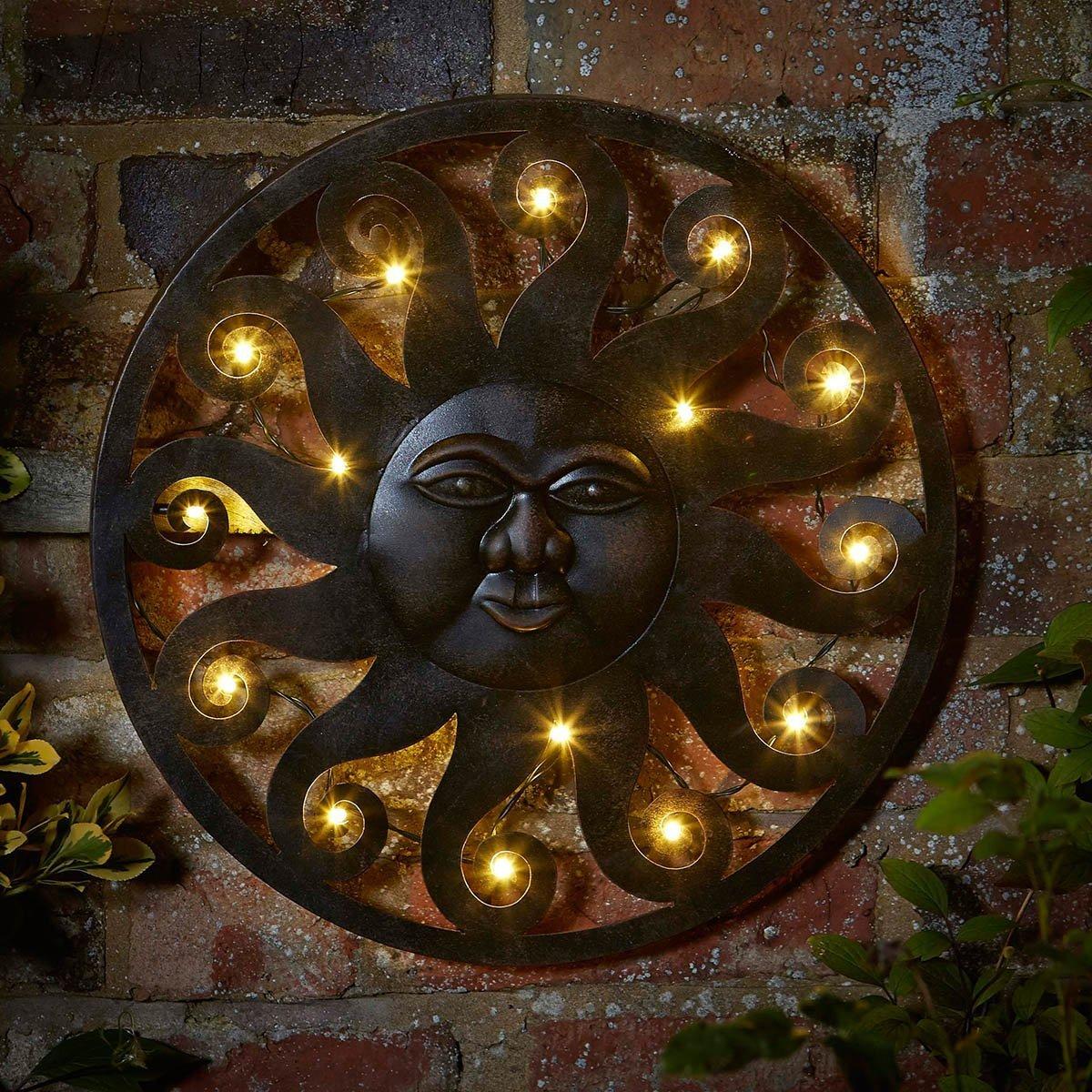 D/écoration Murale Lumineuse Soleil C/éleste Ext/érieur par Smart Garden