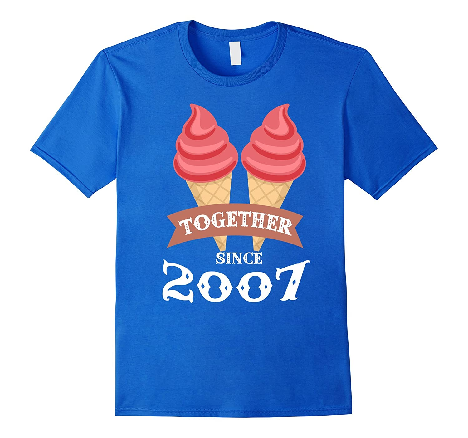 Ice Cream Together Since 2007 Shirt- Summer Style 2016-BN