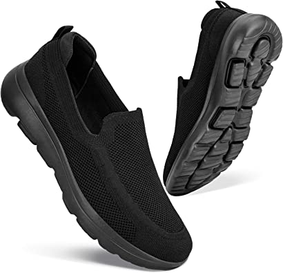 Tsmile Mens Fashion Casual Round Toe Slip On Winter Warm Fuzzy Flannel Low Top Breathable Loafers Walking Shoes