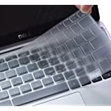 """Ultra Thin Keyboard Protector Cover for 13.3"""" Dell Inspiron 13 7000 7368 i7368, 15.6"""" Dell XPS 15-9550 9560 9570, Dell…"""