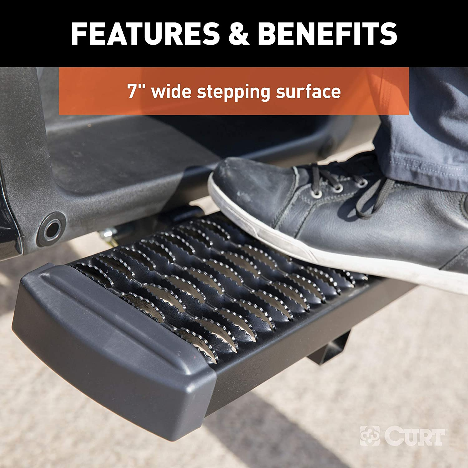 CURT 32001 Grip Step 26-Inch Hitch Step for 2-Inch Receiver
