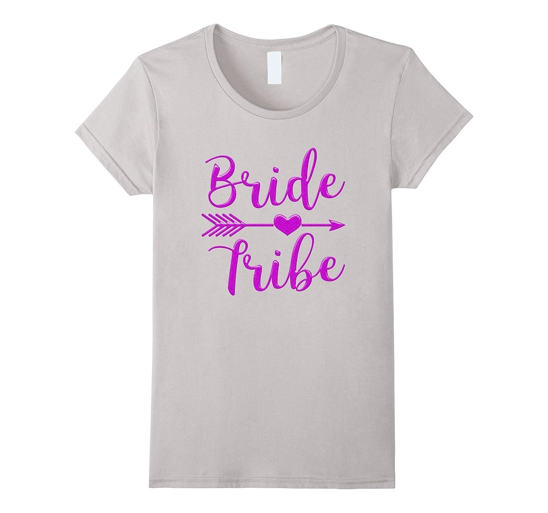 1808489c7 Women's Women's Bride Tribe Arrow Heart Purple Glitter T shirts Bach ...