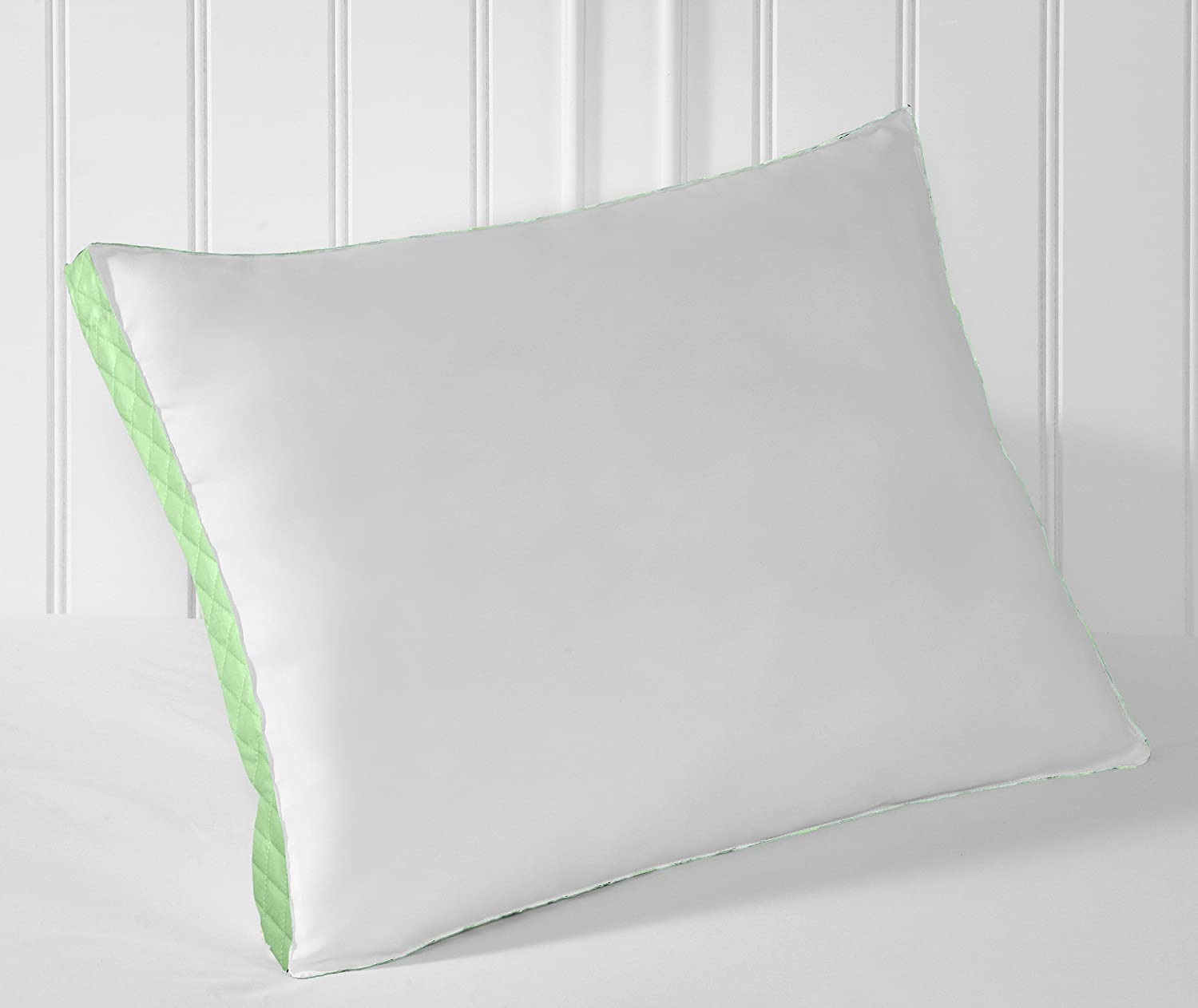 Extra Firm Density 233 Thread-Count Set of 2 Hypoallergenic Gusseted Quilted Pilllow Side Sleeper, King Perfect Fit 715061