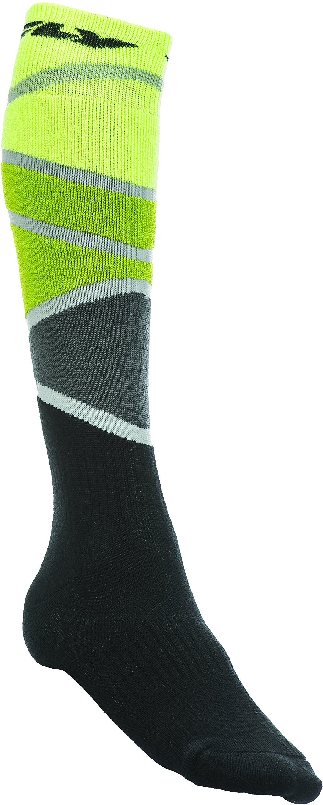 Fly Racing Unisex-Adult Mix Socks Thick (Lime/Green/Black, Small/Medium)