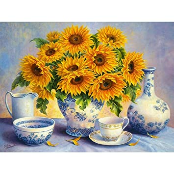 Sunflower DIY 5D Diamond Painting Kits for Adults Paint with Diamonds Rhinestone Embroidery Diamond Arts Crafts 12x16inch Full Drill