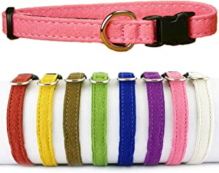 """product image for The Good Dog Company - Hemp Toy Dog Collar, Puppy Dog Collar Available in Red, Yellow, Brown, Green, Blue, Purple, Pink, White, 3/8"""" Width, Fits Neck Size 7""""-13"""" for Small and Teacup Size Tiny Dog"""