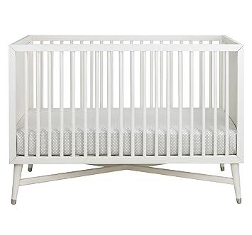 dwell baby furniture. Dwellstudio Mid Century 3 In 1 Convertible Crib, French White Dwell Baby Furniture 2