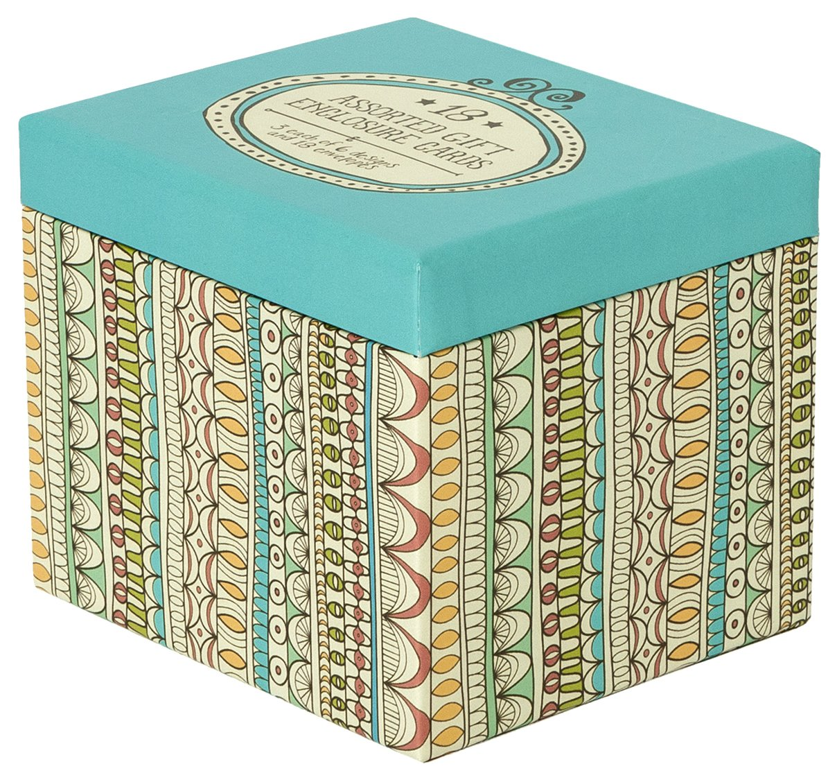 C.R. Gibson Boxed Assorted Enclosures Cards, 18-Count, All Occasion (CE4A-13903)